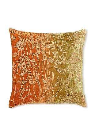Kevin O'Brien Studio Twigs Velvet Pillow, Burnt Sage, 16