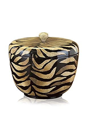 John-Richard Collection Small Zebra Eggshell Box with Lid