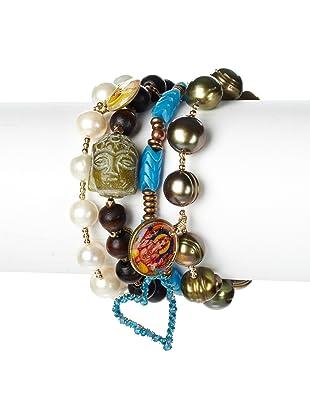 Mercedes Salazar Buddha Beads Bracelet Set