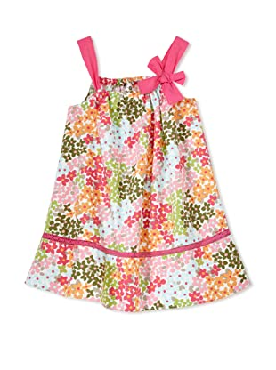 TroiZenfants Girl's Sleeveless Dress with Bow (Floral)