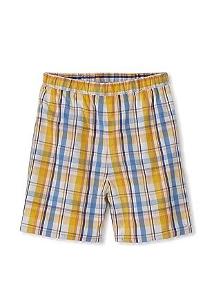 Baby CZ Boy's Madras Shorts (Ocean/Yellow Madras)