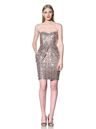 Mark + James by Badgley Mischka Women's Bow Front Sequined Dress (Pink)