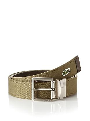 Lacoste Men's Reversible Dual Belt (Olive/Brown)