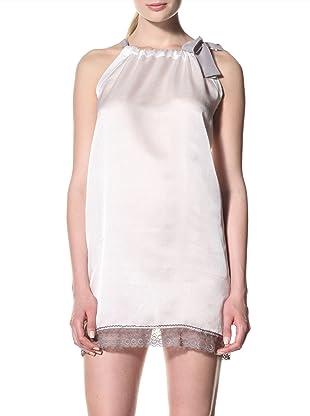 Toute la Nuit Women's Tie Nightie (Ivory/Grey)