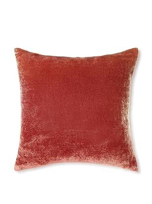 Kevin O'Brien Studio Ombre Velvet Pillow, Papaya/Tangerine, 14