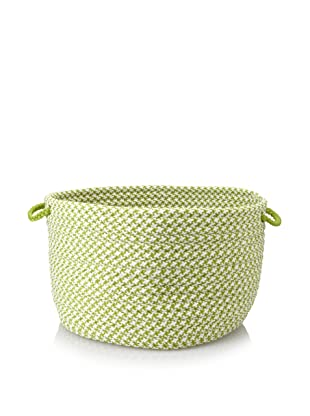 Colonial Mills Indoor/Outdoor Houndstooth Storage Basket (Lime)