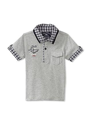 KANZ Boy's Short Sleeve Polo (Grey)