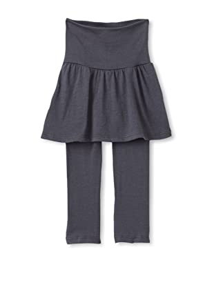 Red Wagon Baby Girl's Solid Skirted Legging (Charcoal)