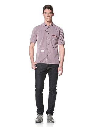 Marshall Artist Men's Club Collar Short Sleeve Shirt (Red Check)