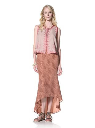 Winter Kate Women's Ranji Embellished Vest (Adobe Rose)