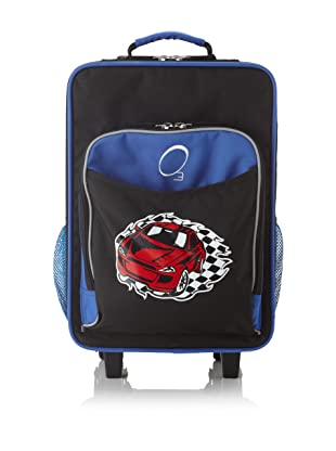 O3 Kids Rolling Luggage with Integrated Snack Cooler, Racecar