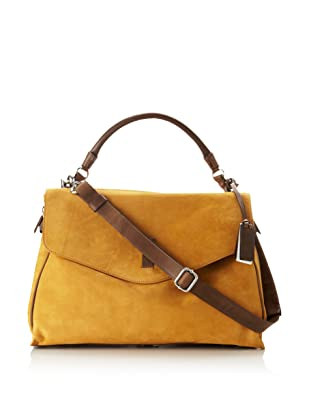 Gryson Women's Cybelle Belted Large Top Handle Messenger (Warm Brown)