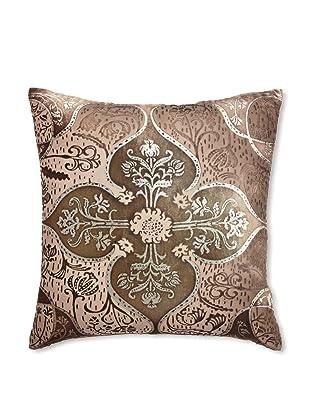 Kevin O'Brien Studio Persian Velvet Pillow, Olive/Taupe, 18