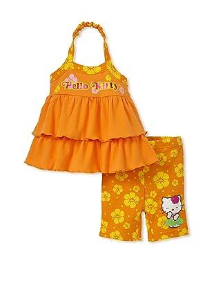 Hello Kitty Girls 2-Piece Shorts Set (Orange)