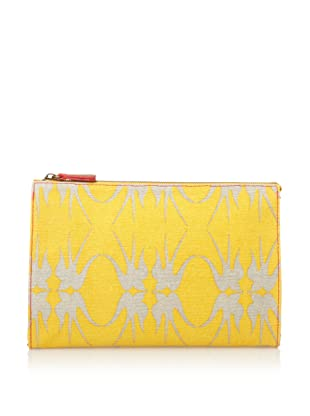 Loquita Women's Birds Cosmetic Case (Yellow)