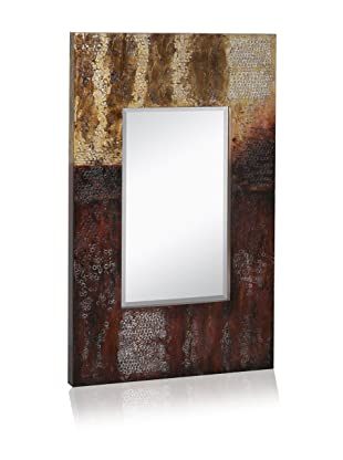 Hand Painted Hammered Mirror