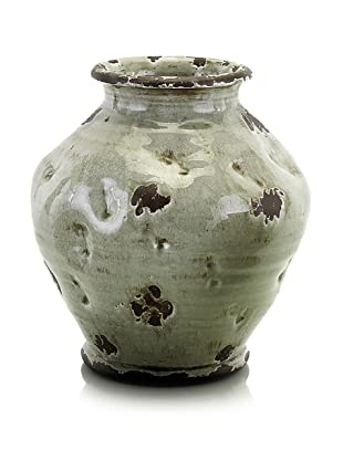 John-Richard Collection Large Sculpted Vase in Gray-Green