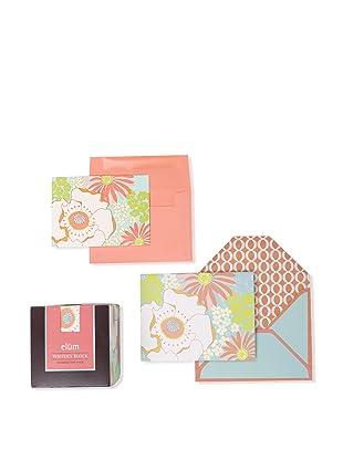 Elum Poppies & Posies Collection, Aqua/Coral