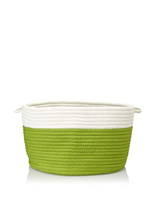 Colonial Mills Indoor/Outdoor Two-Toned Storage Basket (Bright Green)