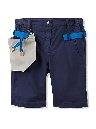 kicokids Boy's Relaxed Work Wear Bermuda Shorts (Indigo)