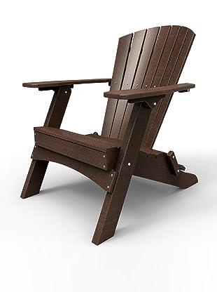 Malibu Outdoor Furniture Hyannis Folding Adirondack Chair (Dark Brown)