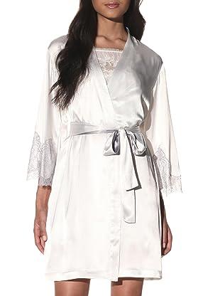 Oscar de la Renta Women's Luxurious Lace Robe (Oyster)