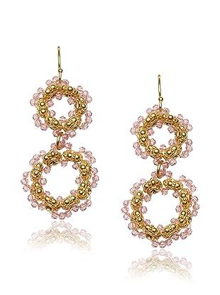 Diane Yang Rose Double Circle Earrings