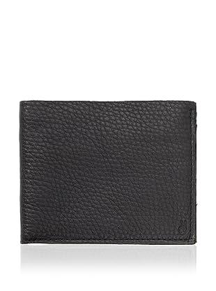 John Varvatos Star USA Men's Raw Edge Billfold Wallet (Black)