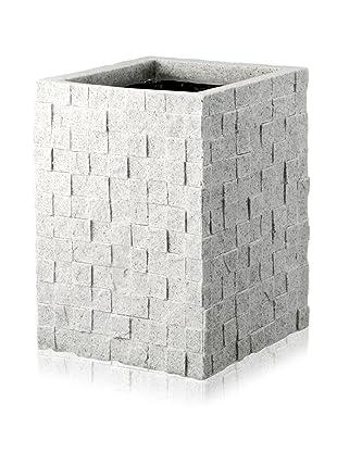 DKLiving Slim Square Faux Granite Planter, Grey