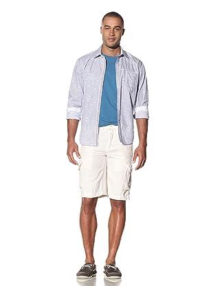 EQ Men's Linen Drawstring Cargo Short (White)
