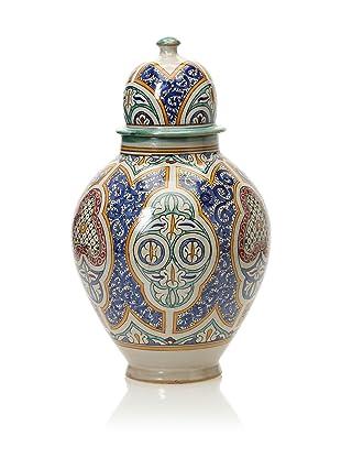 Hand-Painted Ceramic Jar (Multi)