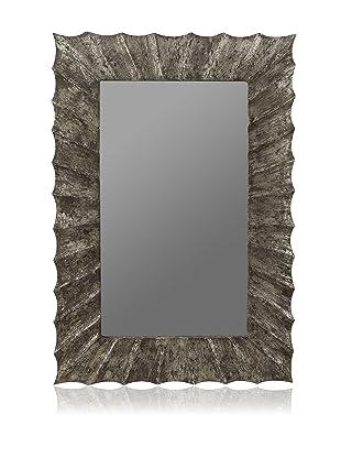 Cooper Classics Jansen Oversized Mirror, Silver Crackle