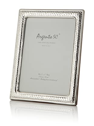 Argento SC Thin Croc Sterling Silver Frame, 5