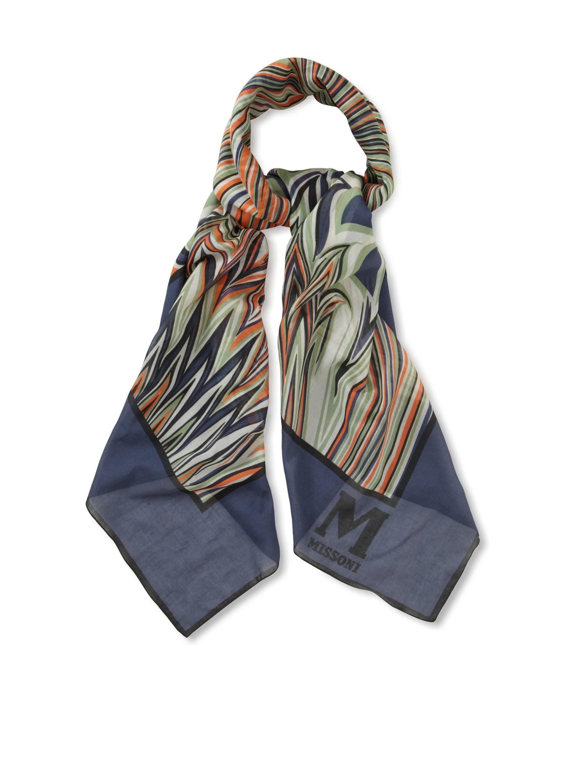 M Missoni Women's Printed Cotton Scarf, Multicolored, One Size