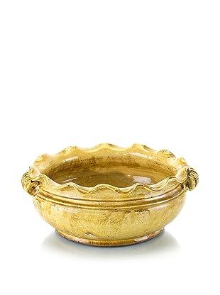 John-Richard Collection Hand-Thrown Glazed Ceramic Bowl in Mustard