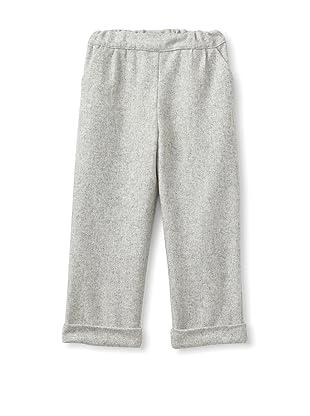 Je suis en CP! Boy's Grandfather Pants (Grey Flannel)