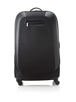 Mandarina Duck Large Scratch Resistant Trolley with Aluminum Handle (Nero)