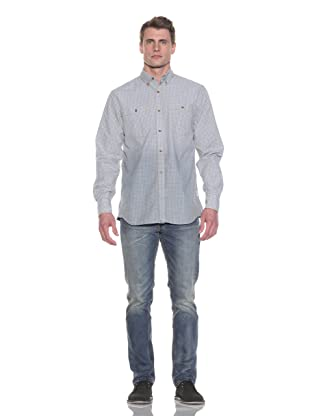 French Connection Men's Greaser Gingham Shirt (Lead)