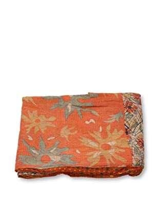 Mili Designs NYC One of a Kind Vintage Kantha Throw, #268