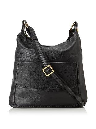 Christopher Kon Women's Jenny Topstitched Shoulder Bag (Black)