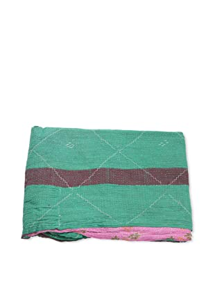 Mili Designs NYC One of a Kind Vintage Kantha Throw, #122