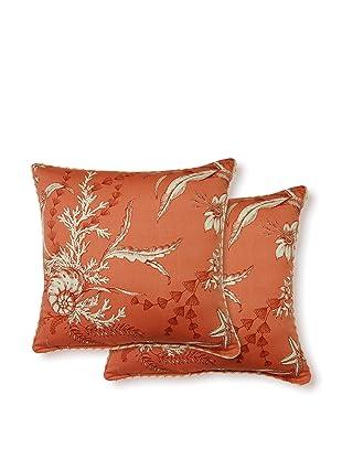 Dakota Set of 2 By the Sea Pillows (Coral)