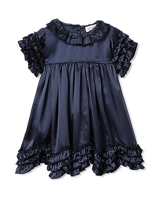 Baby CZ Girl's Chloe Ruffle-Trimmed Dress (Navy)