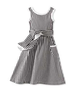 Amoretti Girl's Fancy Free Dress (Black Stripe)