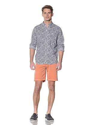 nüco Men's Woven Long Sleeve Shirt (Floral)