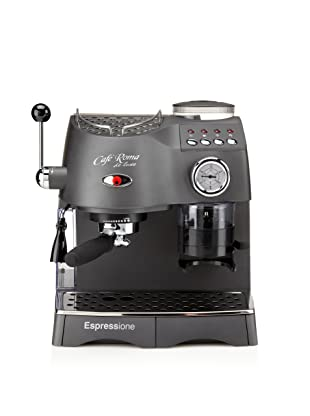 Espressione Cafe Roma Deluxe Espresso Machine with Built-in Grinder (Anthracite Grey)