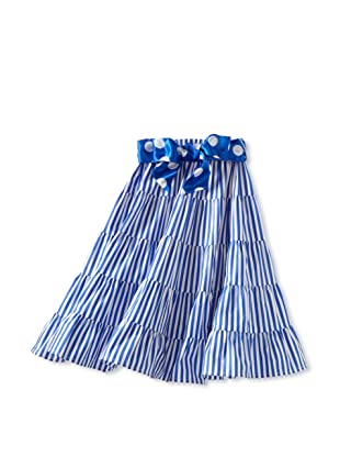 Amoretti Girl's Gypsy Queen Skirt (Blue Stripe)