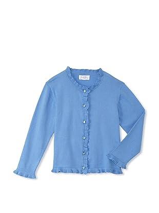 Rachel Riley Girl's Sparkle Cardigan (Blue)