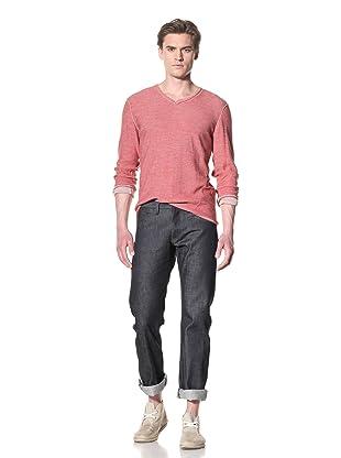 Rogan Men's Orlop Double V-Neck Sweater (Faded Sunspot Combo)