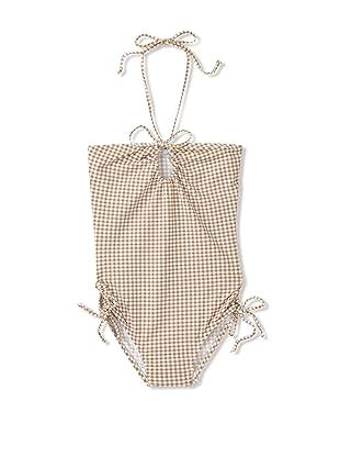 Eberjey Mini Girl's Picnic Basket Girl Grace One-Piece (Taupe)